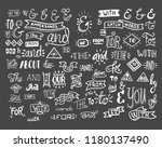 collection of hand lettered... | Shutterstock .eps vector #1180137490