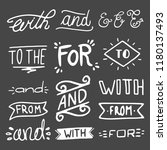collection of hand lettered...   Shutterstock .eps vector #1180137493