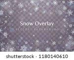 falling christmas snow.... | Shutterstock .eps vector #1180140610