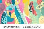 creative doodle art header with ... | Shutterstock .eps vector #1180142140