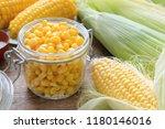 Canned Sweet Corn In Glass Jar...