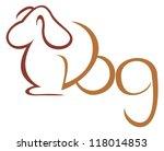 Stock vector dog symbol 118014853