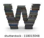 letter w  stacked from many ... | Shutterstock . vector #118015048
