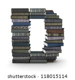 letter d  stacked from many ... | Shutterstock . vector #118015114