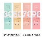 sale banner   elegant sale and... | Shutterstock .eps vector #1180157566