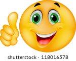 happy smiley emoticon face | Shutterstock .eps vector #118016578