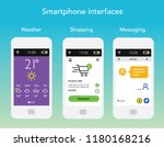 smartphone app interface...