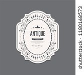 antique label and vintage... | Shutterstock .eps vector #1180168573
