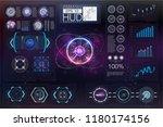 hud head up display.... | Shutterstock .eps vector #1180174156