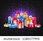 vector christmas  new year... | Shutterstock .eps vector #1180177993