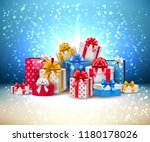 vector christmas  new year... | Shutterstock .eps vector #1180178026