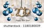 2019 happy new year background... | Shutterstock . vector #1180180039