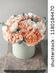 beautiful spring bouquet in... | Shutterstock . vector #1180184470