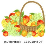 thanksgiving. collected a... | Shutterstock .eps vector #1180184509