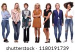 beautiful group of women | Shutterstock . vector #1180191739