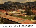 streets in the mexican town... | Shutterstock . vector #1180193956