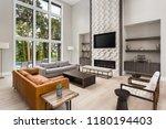 beautiful living room in new... | Shutterstock . vector #1180194403