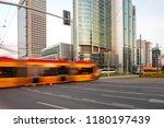 warsaw city modern skyscrapers  ... | Shutterstock . vector #1180197439