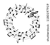 music notes in round shape ... | Shutterstock .eps vector #1180197919
