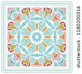 decorative colorful ornament on ... | Shutterstock .eps vector #1180200316
