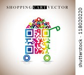 Abstract Vector Shopping Cart...