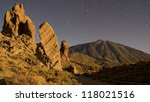 Mount Teide By Night With...