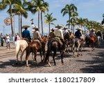 puerto vallarta  jalisco ... | Shutterstock . vector #1180217809