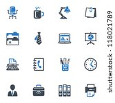 office icons   blue series   Shutterstock .eps vector #118021789