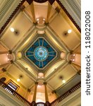 CHEYENNE, WYOMING - JULY 18: The dome of the State Capitol Building on July 18, 2012 in Cheyenne, Wyoming - stock photo