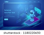 science teacher bot. robot...   Shutterstock .eps vector #1180220650