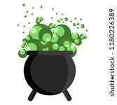 happy halloween. witch cauldron ... | Shutterstock .eps vector #1180226389