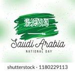 kingdom of saudi arabia... | Shutterstock .eps vector #1180229113