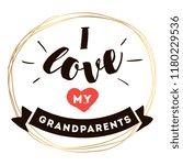 happy grandparents day.... | Shutterstock .eps vector #1180229536