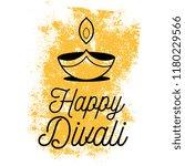 happy diwali. typography. logo... | Shutterstock .eps vector #1180229566