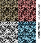 four abstract  zebra skin with... | Shutterstock .eps vector #118023250