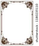 decorative frame in vintage... | Shutterstock .eps vector #1180235110