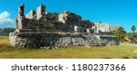 tulum is the site of a pre... | Shutterstock . vector #1180237366