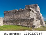 tulum is the site of a pre... | Shutterstock . vector #1180237369