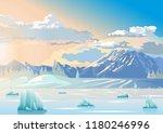 iceberg ocean ice arctic polar... | Shutterstock .eps vector #1180246996