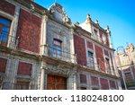 mexico city central zocalo... | Shutterstock . vector #1180248100