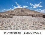 landmark teotihuacan pyramids... | Shutterstock . vector #1180249336