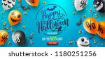 halloween sale promotion poster ... | Shutterstock .eps vector #1180251256