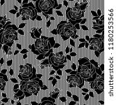 rose illustration pattern | Shutterstock .eps vector #1180253566