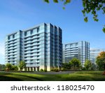 buildings made in 3d | Shutterstock . vector #118025470