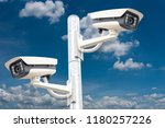 cctv systems on sky background | Shutterstock . vector #1180257226