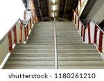 concrete stairway banister of...   Shutterstock . vector #1180261210