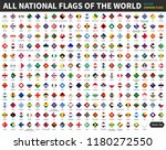 all official national flags of... | Shutterstock .eps vector #1180272550
