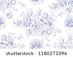 seamless floral pattern with... | Shutterstock .eps vector #1180273396