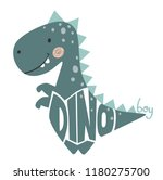 dinosaur baby cute print. dino... | Shutterstock .eps vector #1180275700