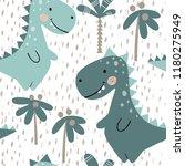 dinosaur baby boy seamless... | Shutterstock .eps vector #1180275949